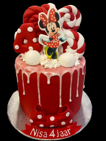 Rode Minnie Taart