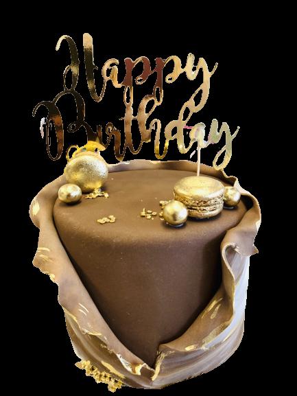 Verpakte Cake Bruin