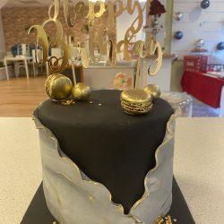 Verpakte Cake Zwart