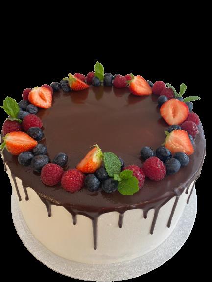 Chocolade Drip met Fruit
